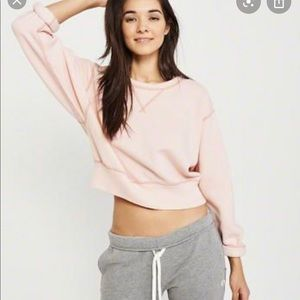 Abercrombie and Fitch Crop oversized sweater